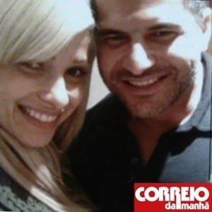 A dentista brasileira Luana Camargo, 28, com o marido, Marcos Camargo, 39