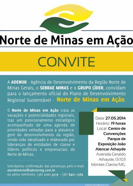 Norte de Minas - ADENOR, SEBRAE e o Grupo Líder lançam Plano de Desenvolvimento Regional Sustentável
