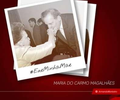 O mesmo fez o senador Armando Monteiro Neto (PTB), que postou uma foto dele com a senhora Maria do Carmo Magalhães e a hashtag #EueMinhaMãe.