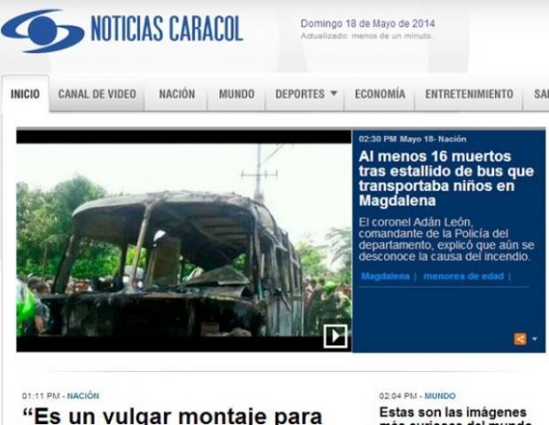 América - Incêndio em ônibus mata 16 pessoas na Colômbia, a maioria crianças