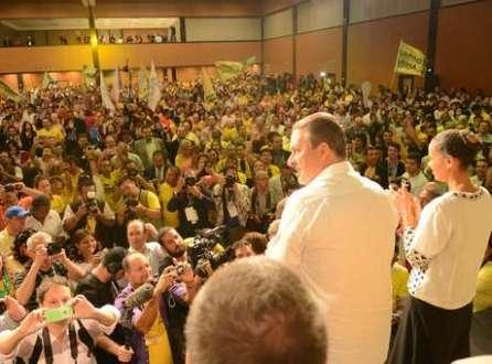 Convenção do partido oficializou a candidaturas de Eduardo Campos e Marina Silva