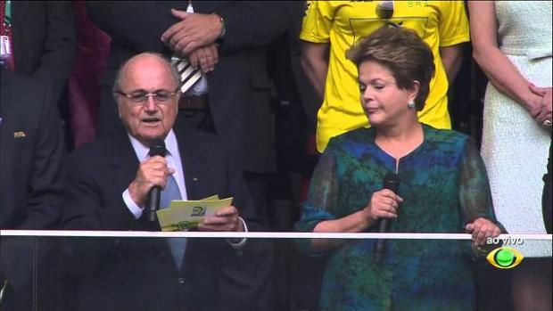Copa 2014 - Torcedores insultam Dilma na abertura da Copa