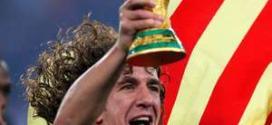 Puyol será o responsável por entregar a taça em 2014