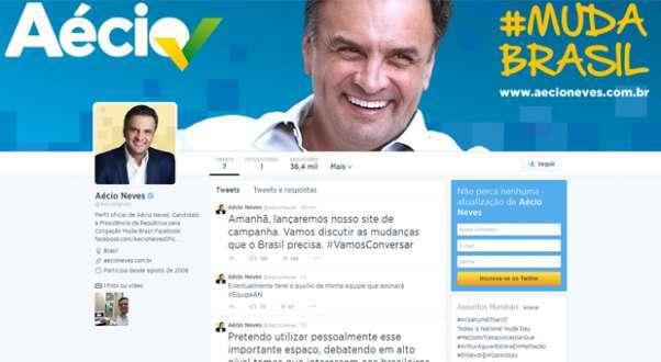 Página do tucano no microblog terá postagens feita tanto pelo político quanto por sua equipe