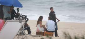 Bruna Marquezine e Gabriel Braga Nunes contracenaram na beira do mar
