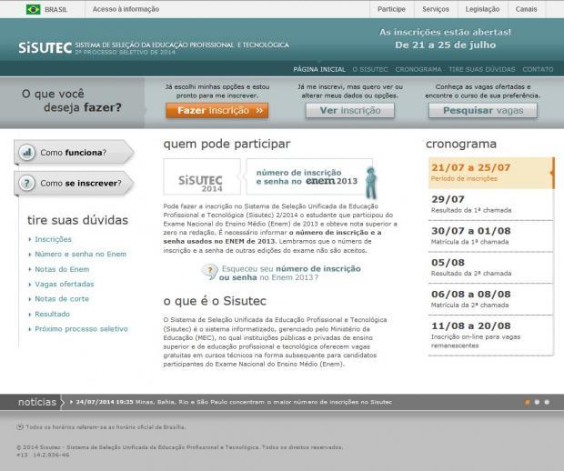 Educação - Inscrições para o Sisutec 2014 são prorrogadas até domingo