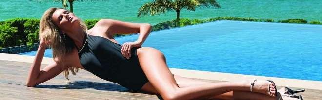A modelo catarinense Barbara Beluco já foi eleita 'o corpo' e posou para fotos em Camburiú