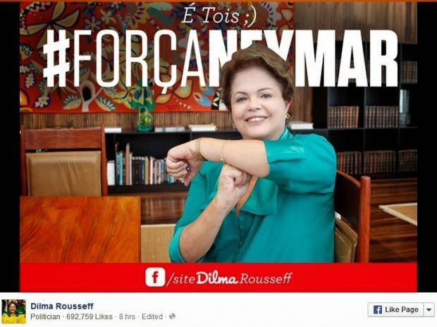 Eleições 2014 - Dilma começa campanha vinculando imagem à Copa do Mundo