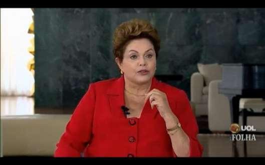 Dilma Rousseff responde a jornalistas neste momento. Foto: reproudução vídeo Folha de S. Paulo