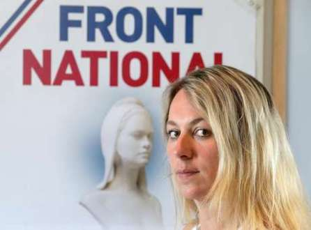 Anne-Sophie Leclère, 33 anos, foi condenada a nove meses de prisão e cinco anos de inelegibilidade por comparar a ministra da Justiça Christiane Taubira a um macaco durante um discurso transmitido pela TV em outubro de 2013