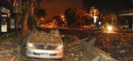 Danos se espalharam por várias ruas da cidade de Kaohsiung, informou a Xinhua