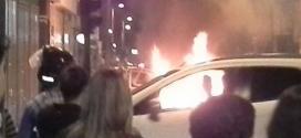 Vídeo - Carro da COPASA pega fogo no centro de Montes Claros