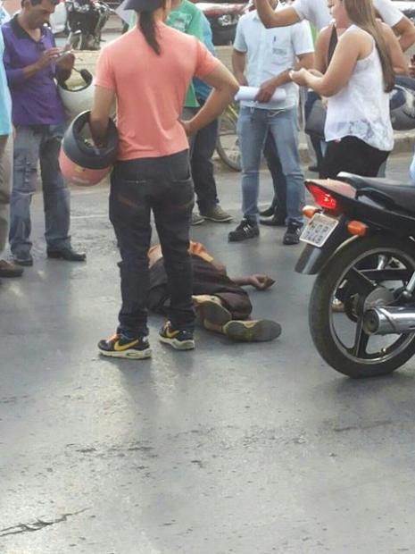 Montes Claros - Idoso de 78 anos morre atropelado na Av. Sanitária - Foto: Tiago Felipe