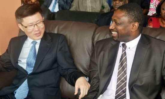 O embaixador do chinês esteve na Guiné para entrega de suprimentos médicos.