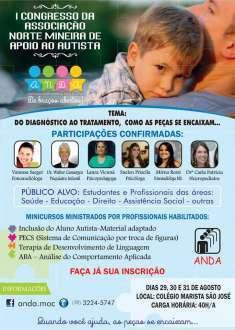 Montes Claros - Evento debaterá Transtornos do Espectro Autista e dificuldades na comunicação familiar e socialização