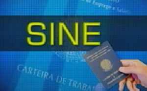 Vagas do Sine em Montes Claros – 28/08/2014