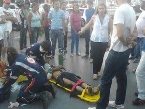 Idoso foi socorrido, mas morreu ao dar entrada no hospital. (Foto: Davisson Freitas)