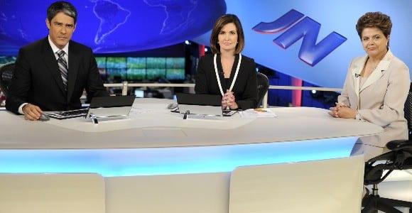 Nesta segunda-feira foi a vez da presidente Dilma Rousseff conceder uma entrevista ao Jornal Nacional da TV Globo.