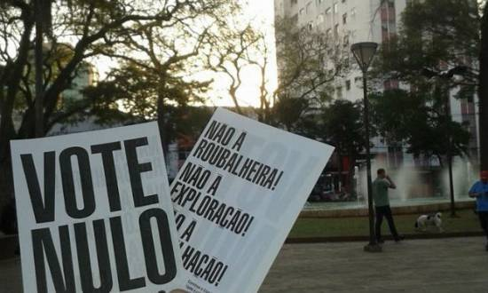 Campanhas por todo o País pedem o voto nulo
