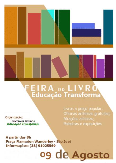 Montes Claros - Bairro São José recebe Feira do Livro neste sábado