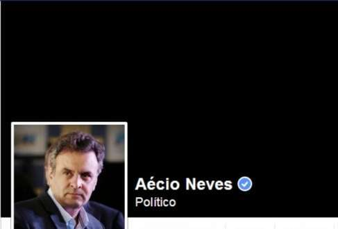 Facebook do candidato Aécio Neves passa por alteração após a morte de Eduardo Campos