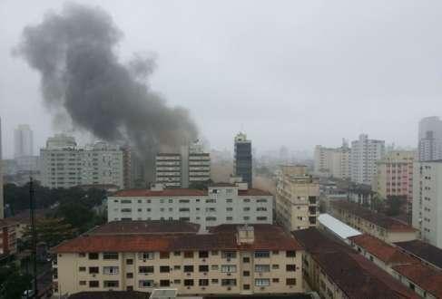 Morador de Santos postou em sua página no facebook imagens do acidente