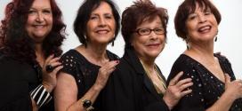 Cybele (a terceira da esquerda para a direita) com o Quarteto em Cy
