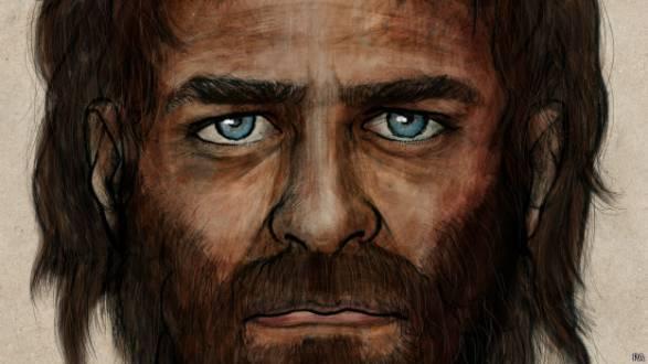 Desenho feito por artista mostra como era o caçador de pele morena e olhos azuis