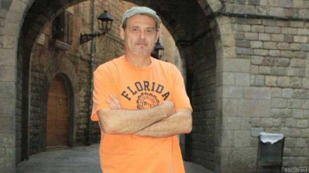 Juan Conejero, 51 anos, morou quatro anos nas ruas de Barcelona
