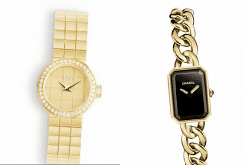 As da Dior, com 19mm, €25.000, e o Chanel Horlogerie, com 16mm, €15.200