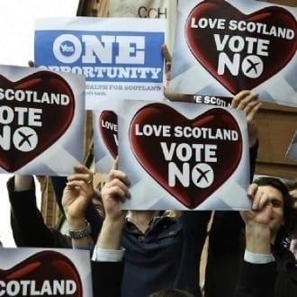 Europa - Escócia rejeita independência com 55% dos votos