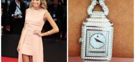 Helena Bordon apostou no relógio superslim todinho cravejado de diamantes da marca Jaeger-LeCoultre para cruzar o red carpet do Festival de Cinema de Veneza