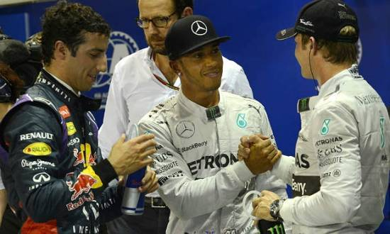Hamilton conquistou a sua sexta pole position na temporada 2014 da Fórmula 1