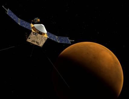 Sonda MAVEN chegará à órbita de Marte na segunda-feira