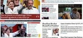 Noticiários internacionais anunciaram a reeleição de Dilma Rousseff