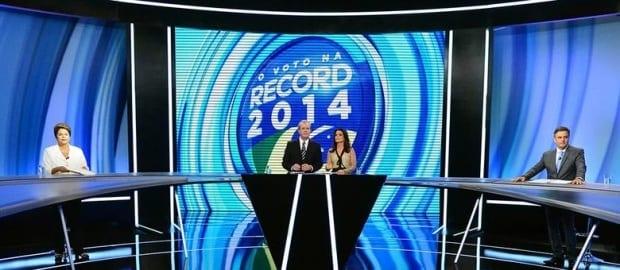 Debate da TV Record entre os presidenciáveis ocorre na noite deste domingo, em São Paulo