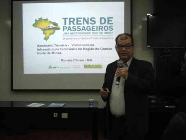 José Queiroz de oliveira, Assessor da diretoria da ANTT – Agência Nacional de Transportes Terrestres, coordenador do grupo de Trabalho Trens de Passageiros, apresentou alguns dados que colocam este tipo de transporte como alternativa barata e sustentável