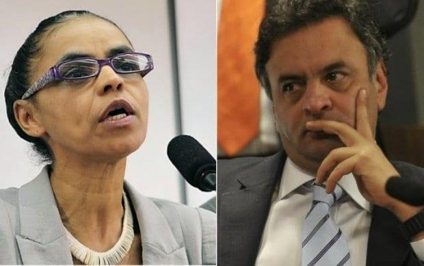 Eleições 2015 - Aécio recebe ligação de Marina