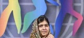 Vencedora do Nobel da Paz 2014, Malala Yousafzai discursa durante cerimônia de recebimento do prêmio Crianças do Mundo, na Suécia, em 29 de outubro