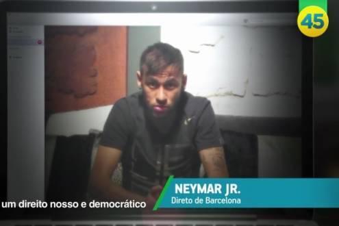 Neymar Jr. aparece no horário eleitoral de Aécio Neves
