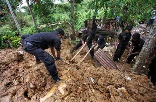 Sri Lanka faz busca por 192 pessoas sumidas por deslizamento