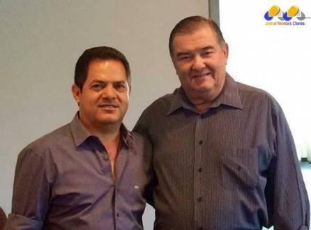 José Aparecido Mendes e o presidente reeleito da Faemg Roberto Simões