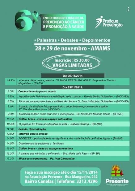 Norte de Minas - 6º Encontro Norte Mineiro de Prevenção ao Câncer e Promoção à Saúde