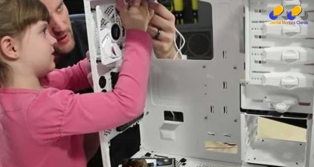 Menina de cinco anos cria seu próprio computador