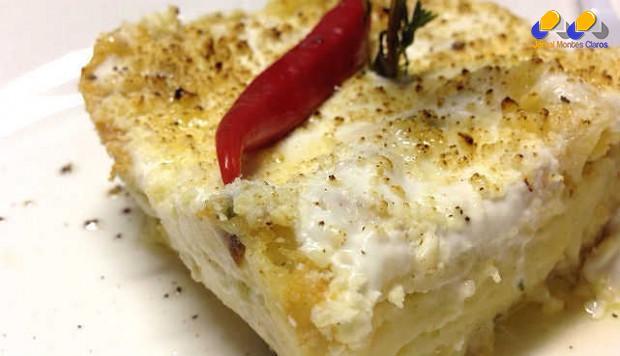 Que tal aprender a fazer uma lasanha diferente, com recheio de bacalhau?!