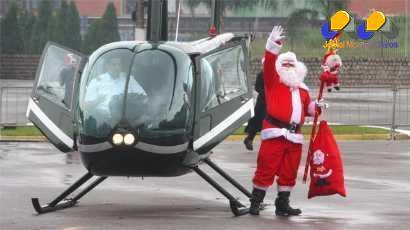Montes Claros - Papai Noel chega de helicóptero neste sábado a Montes Claros
