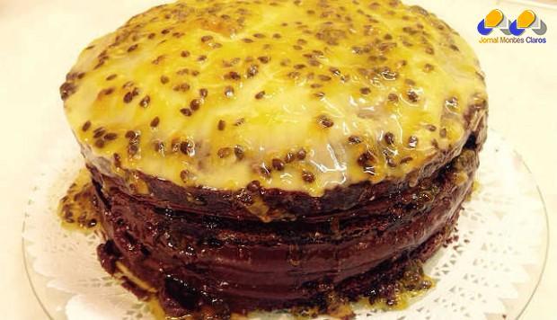 Gastronomia - Receita de Torta de chocolate com maracujá