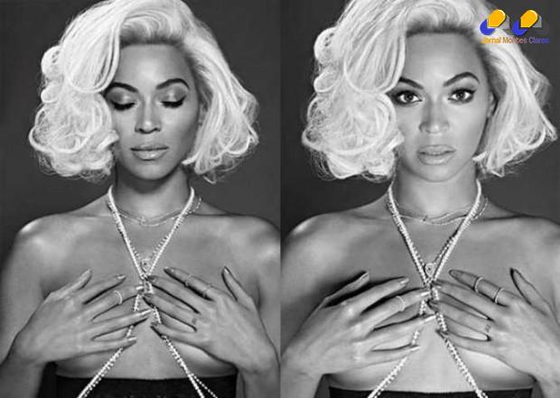 Beyoncé encarnou Marilin Monroe em ensaio para a revista Out, voltada para o público gay