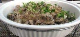 Gastronomia - Receita de Fatias de Carne ao Molho de Ameixa e Azeitonas
