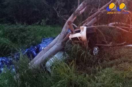 MG - Motorista de carreta morre ao sair da pista em Bom Despacho